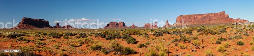 Majestic Monument Valley stock photo