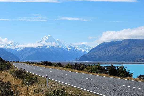 Majestic Mount Cook - New Zealand stock photo