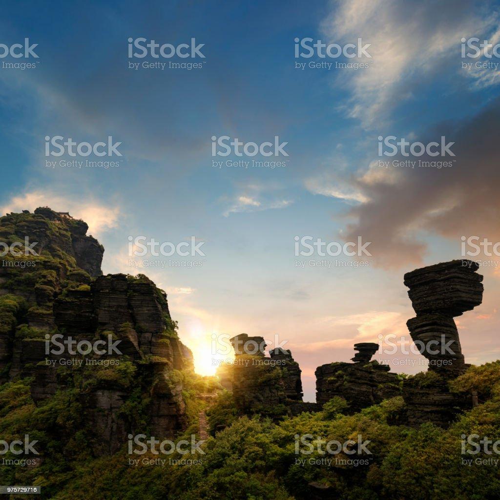 Majestätischen Mount Fanjing - Lizenzfrei Baum Stock-Foto