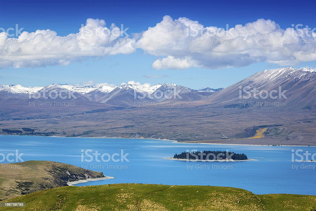 Majestic mountain lake. New Zealand royalty-free stock photo