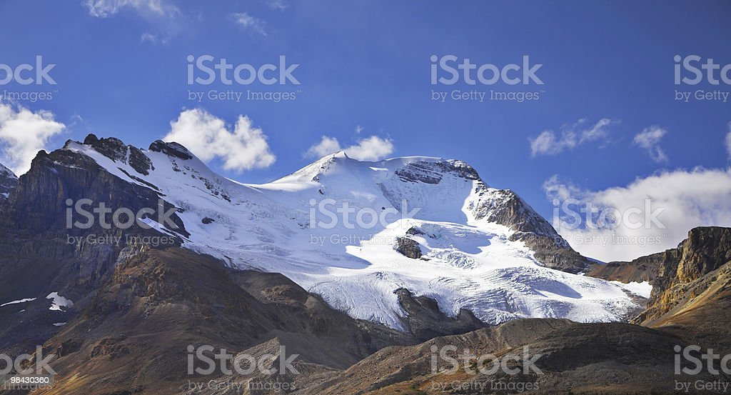 Majestic mountain landscape, glaciers shined by the sun royalty-free stock photo