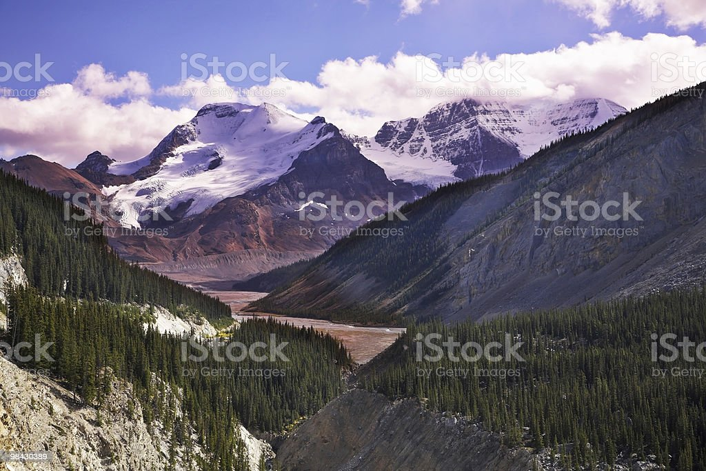 Majestic mountain landscape, the snow slopes royalty-free stock photo