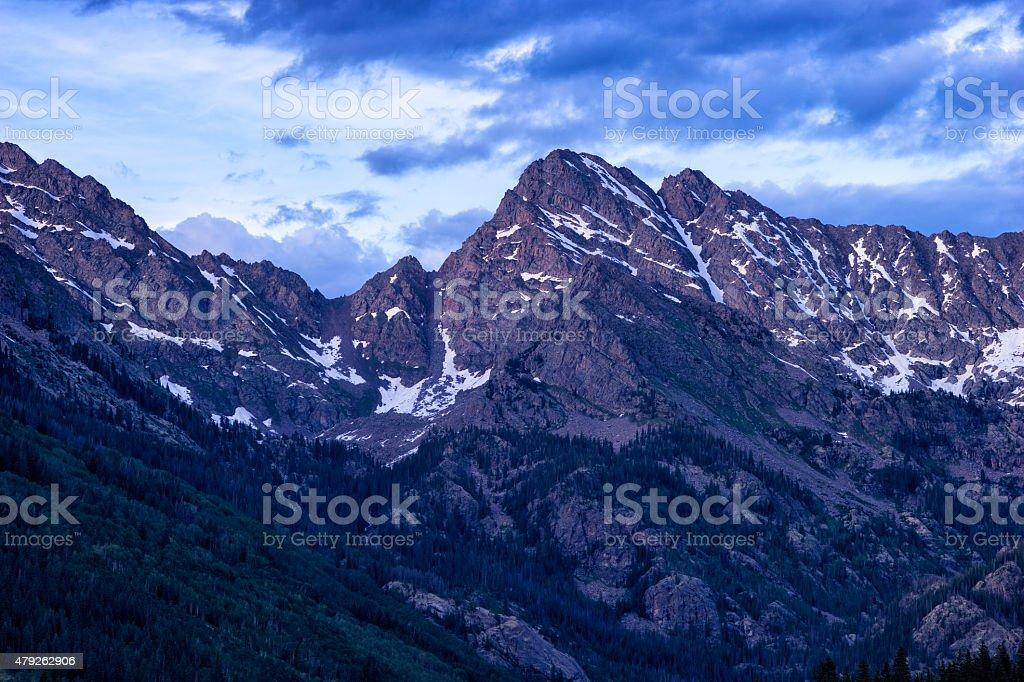 Majestic Mountain Peak stock photo