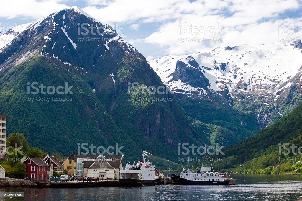 Majestic Norwegian Fjords stock photo