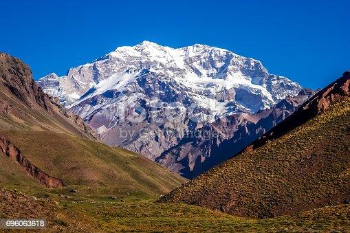 istock Majestic peak of Aconcagua 696063618