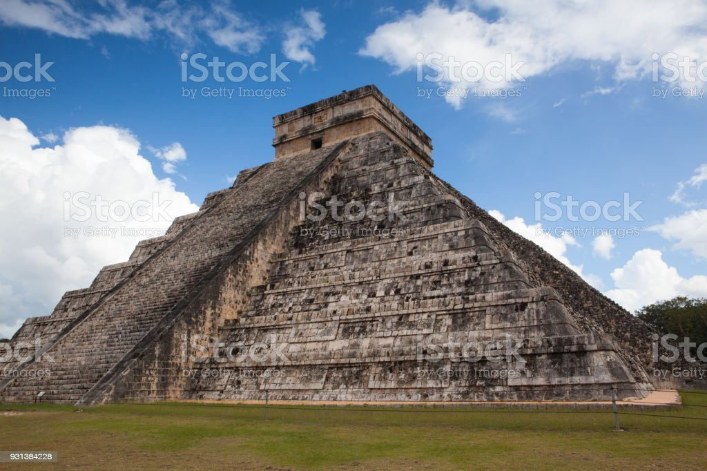 Majestic ruins in Chichen Itza,Mexico.Chichen Itza is a complex of...