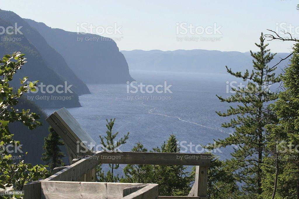 Majestic Saguenay Fjord stock photo