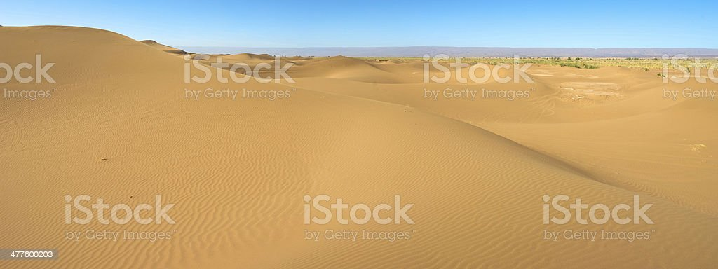 Majestic sand dune landscape in Morocco royalty-free stock photo