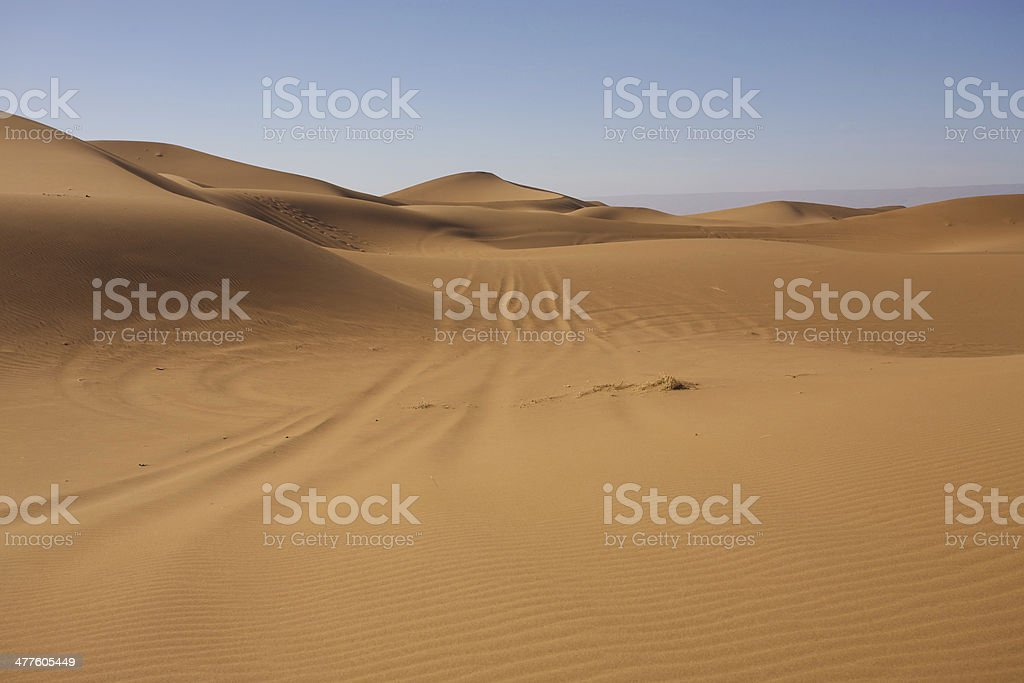 Majestic sand dunes landscape in Morocco royalty-free stock photo