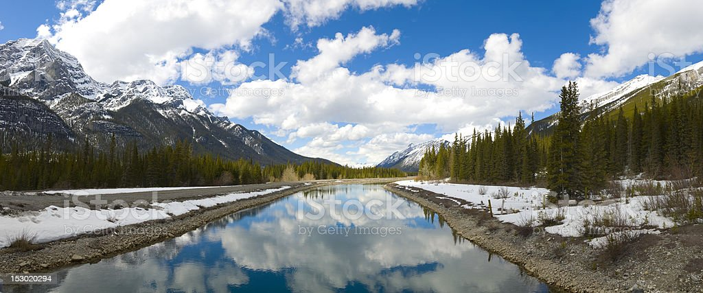 Majestic Scene in the Canadian Rockies royalty-free stock photo