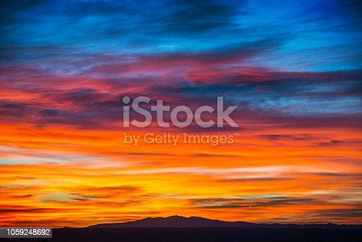 Sunset in Albuquerque New Mexico