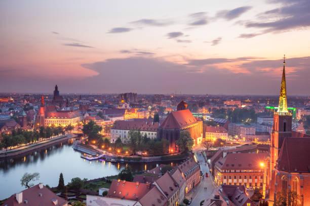 Majestic Skyline Wroclaw stock photo