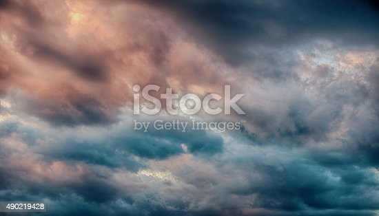516351793 istock photo Majestic Storm Clouds 490219428