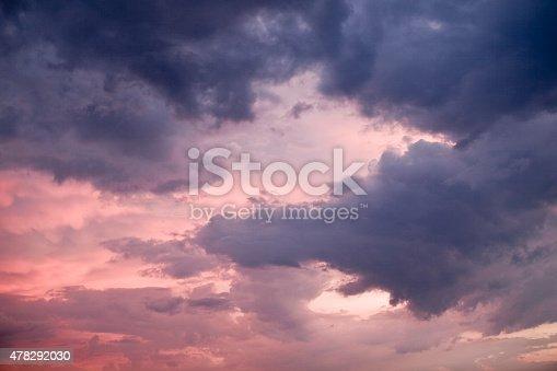 516351793 istock photo Majestic stormy clouds. 478292030