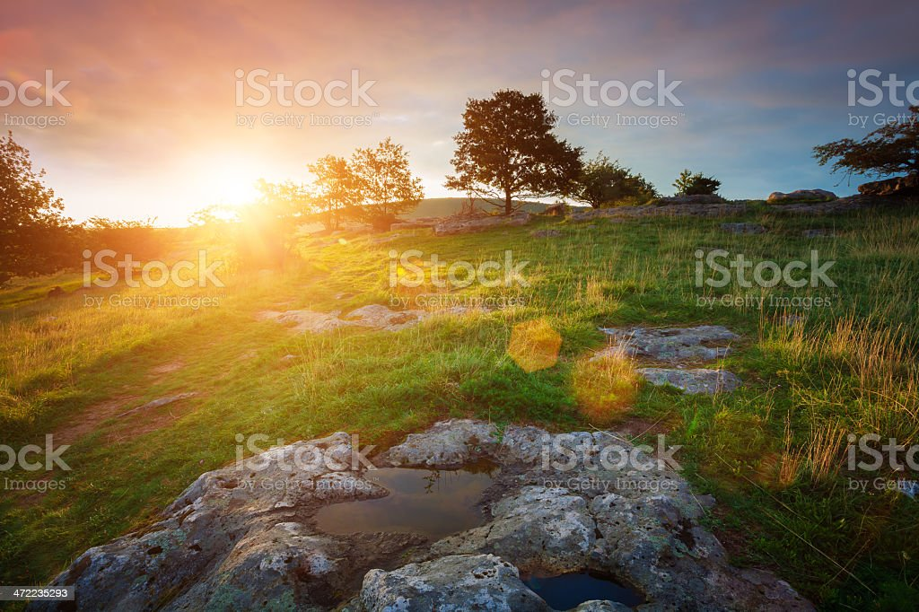Majestic sunrise stock photo