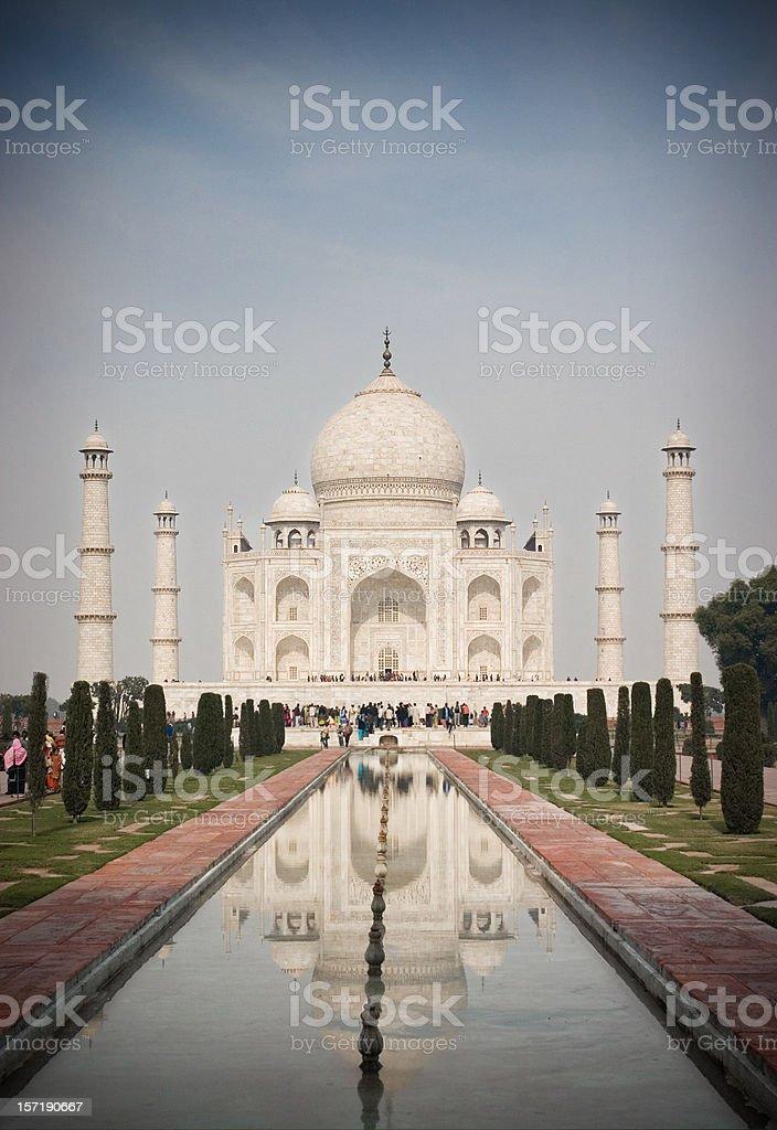 Majestic Taj Mahal, India royalty-free stock photo