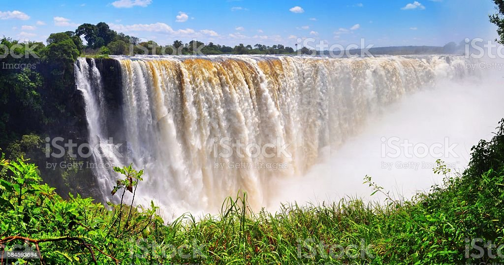 majestic view with Victoria falls(South Africa) stock photo