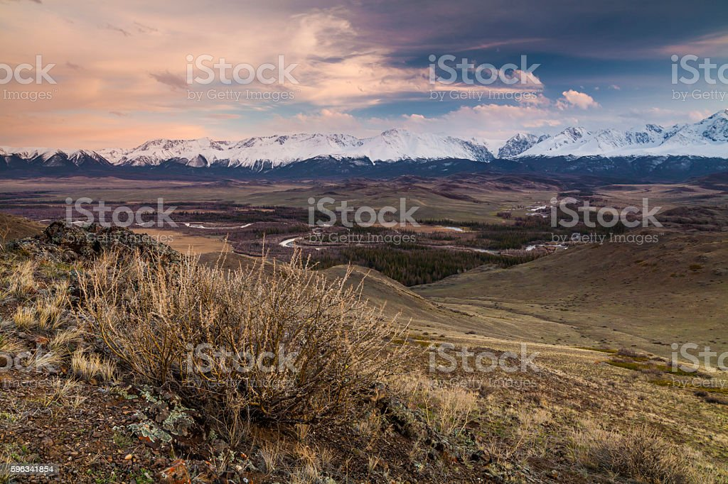 Majestic views of the beautiful mountains of Altai. royalty-free stock photo