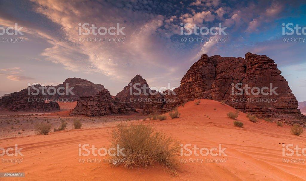 Majestic views of the Wadi Rum desert. Jordan. royalty-free stock photo