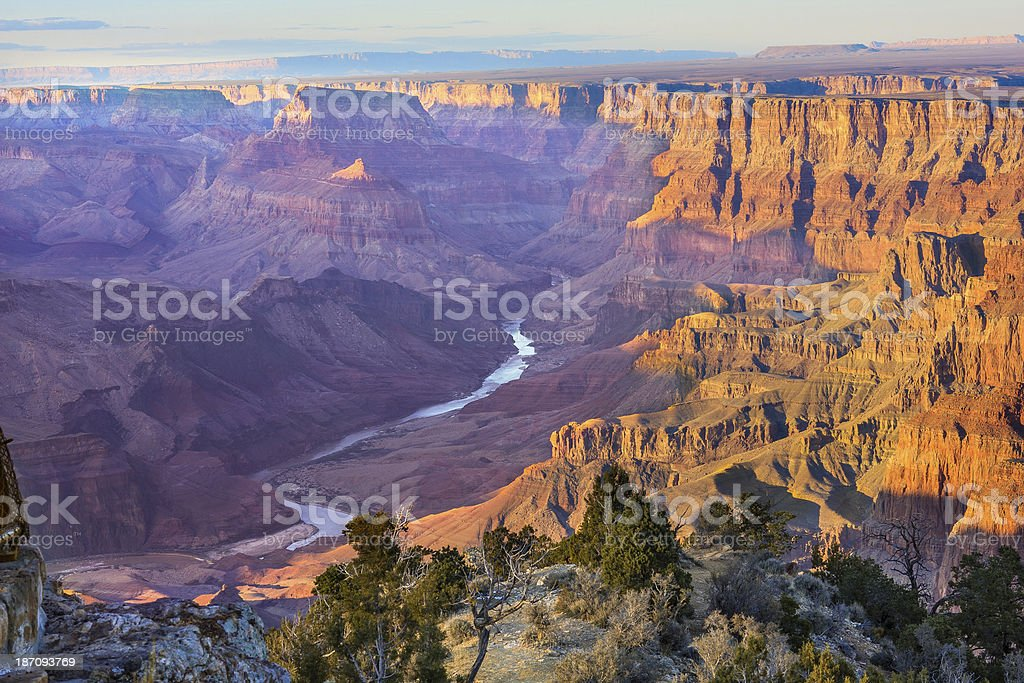 Majestic Vista of the Grand Canyon at Dusk royalty-free stock photo
