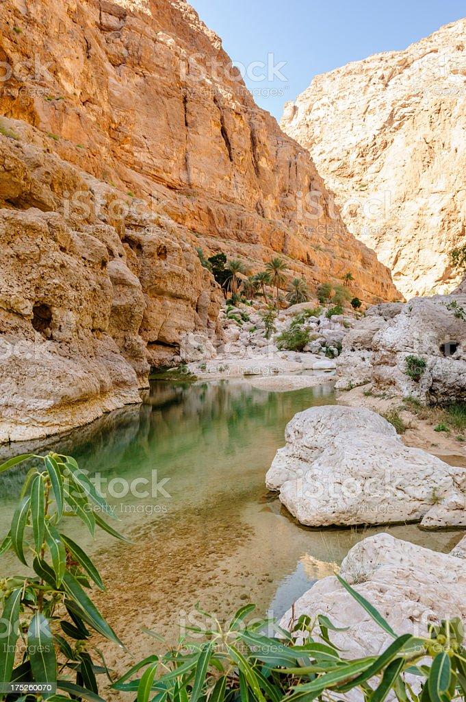 Majestic Wadi Shab stock photo