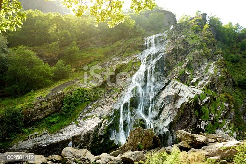 istock Majestic water cascade of Powerscourt Waterfall, the highest waterfall in Ireland. 1002561412