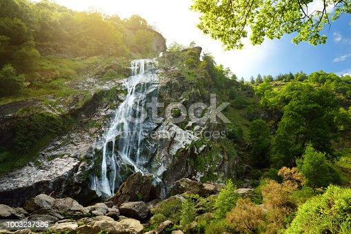 istock Majestic water cascade of Powerscourt Waterfall, the highest waterfall in Ireland. 1003237386