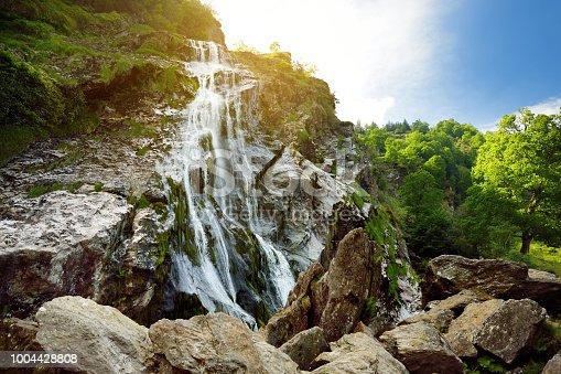 istock Majestic water cascade of Powerscourt Waterfall, the highest waterfall in Ireland. 1004428808