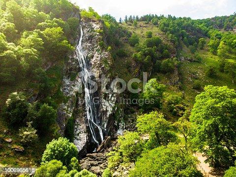 istock Majestic water cascade of Powerscourt Waterfall, the highest waterfall in Ireland. 1006965618