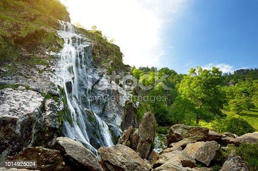 istock Majestic water cascade of Powerscourt Waterfall, the highest waterfall in Ireland. 1014925024