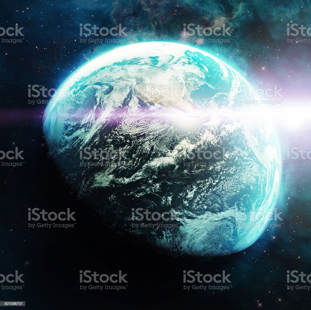 Majesty and marvel of the blue planet royalty-free stock photo