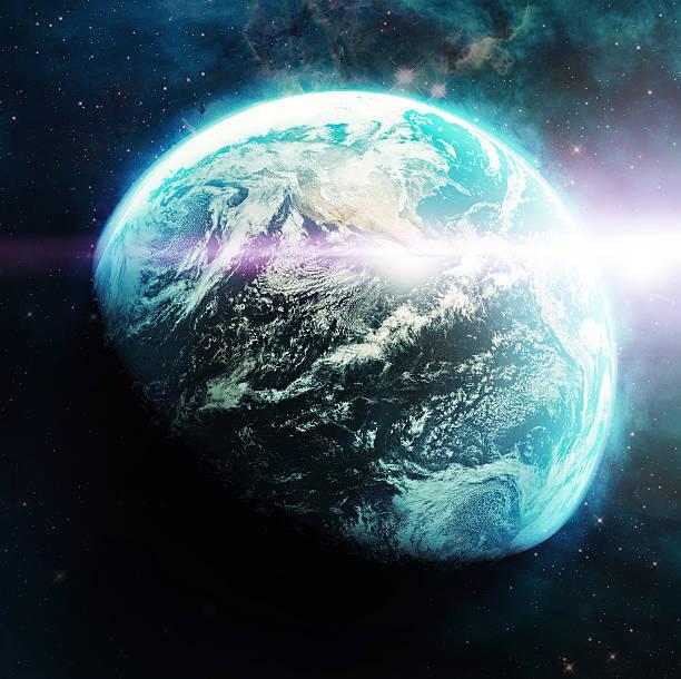 majesty and marvel of the blue planet - earth from space bildbanksfoton och bilder