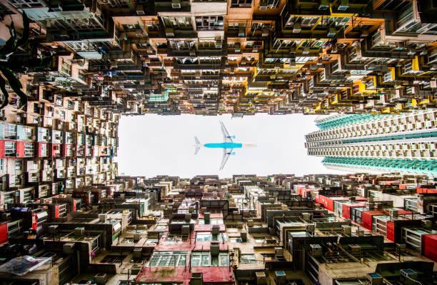 Major apartment building in Hong Kong stock photo