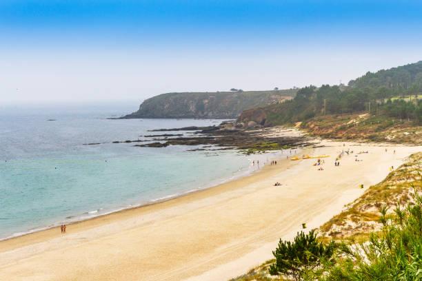 Major beach and Estofallas cape stock photo