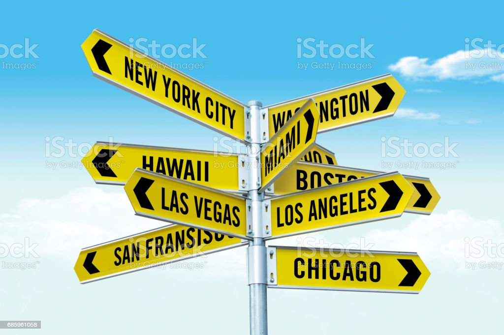 Major big cities in USA stock photo