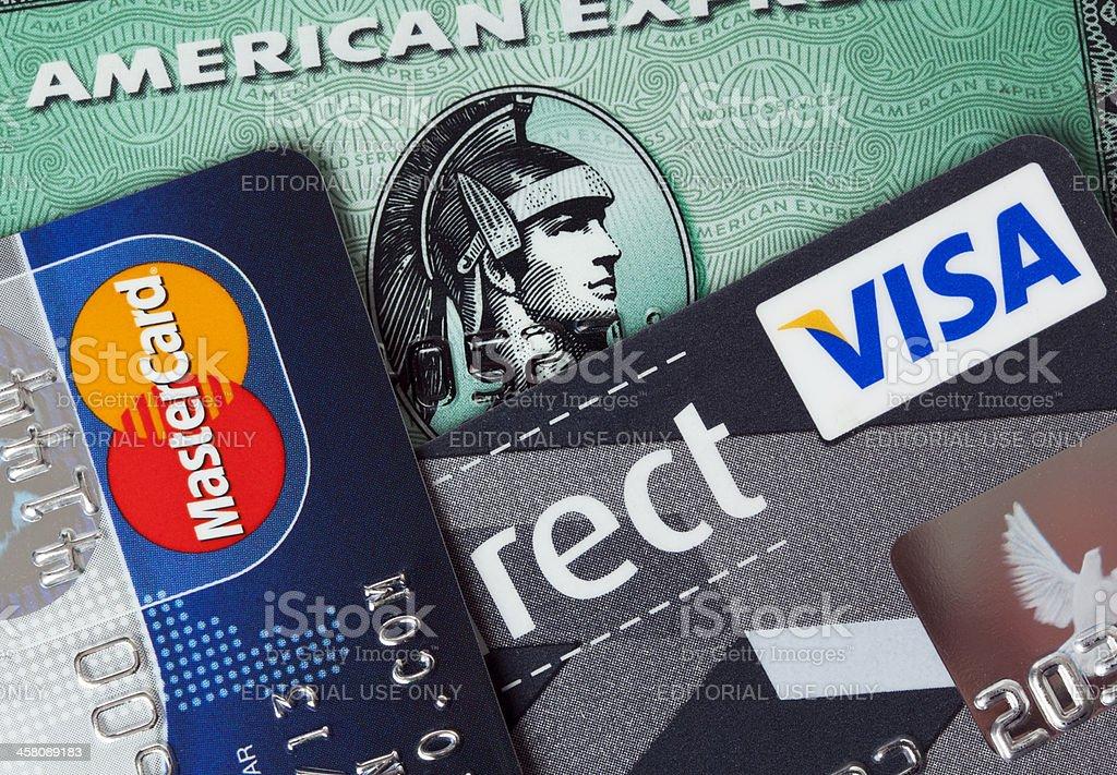 Las principales tarjetas de crédito - foto de stock