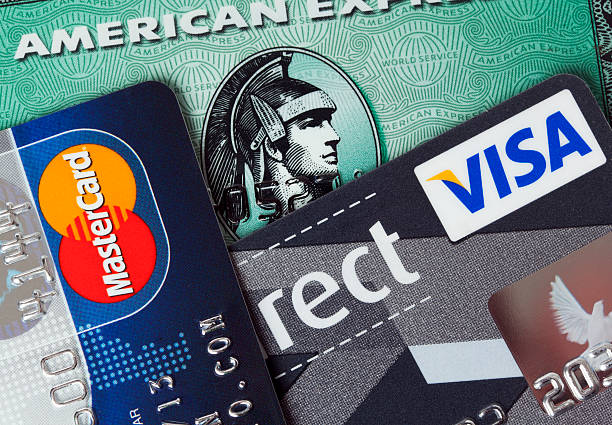 major credit cards stock photo