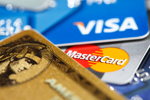 Major Credit Cards Stock Photo - Download Image Now