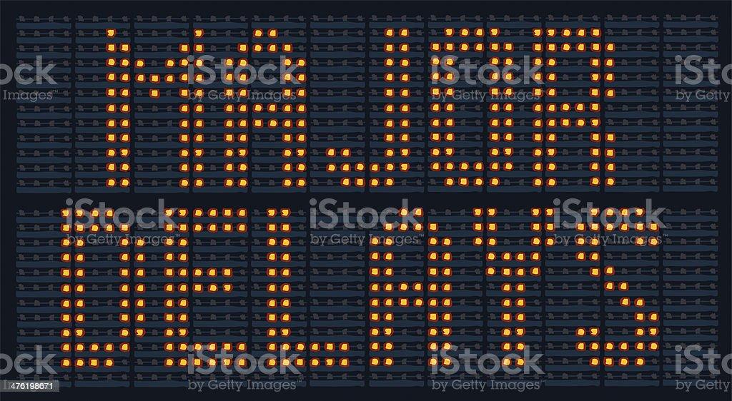 Major Delays stock photo