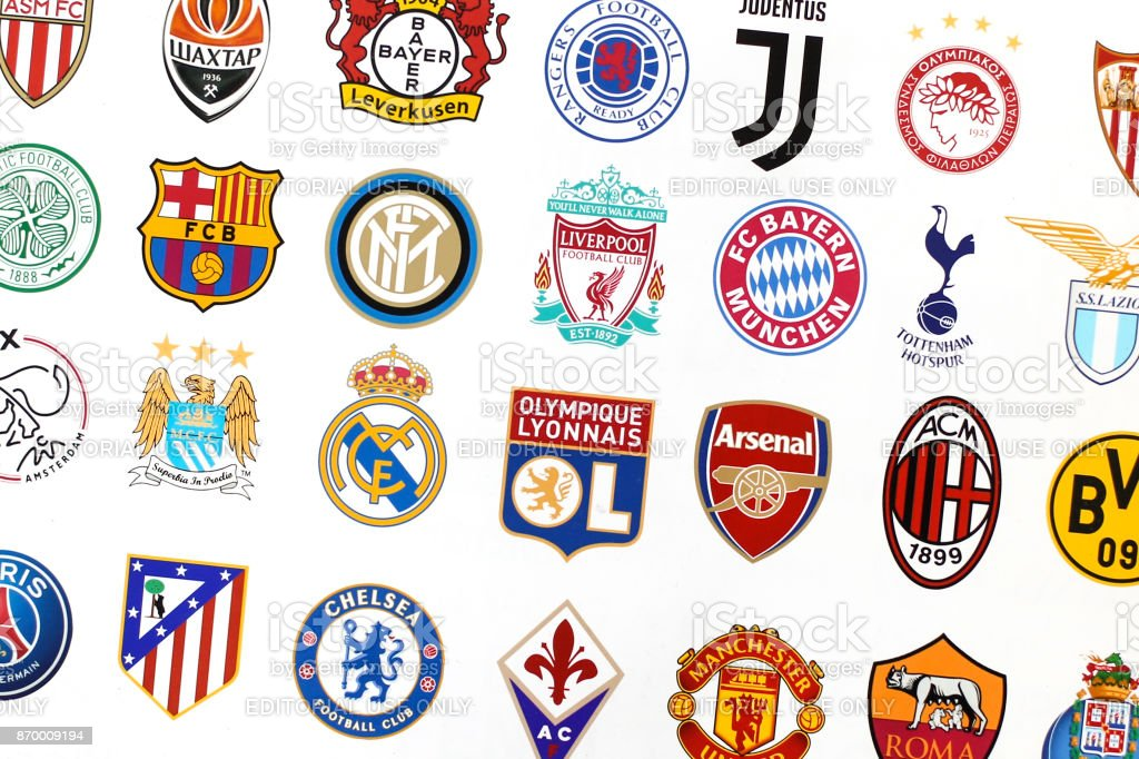 Major European soccer clubs stock photo