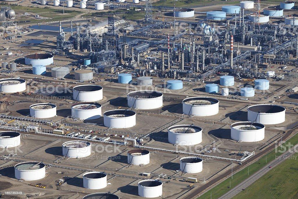 Major Oil Refinery royalty-free stock photo