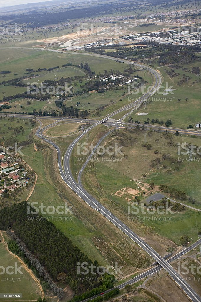 Major road in Canberra, Australia royalty-free stock photo