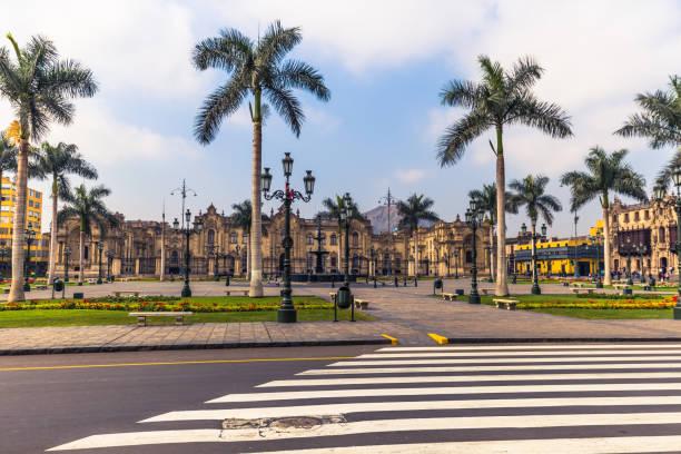 Lima, Peru - 16. August 2017: Major Platz im historischen Zentrum der Stadt von Lima, Peru – Foto