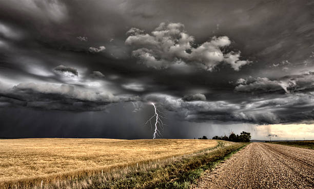 Major Storm Saskatchewan stock photo