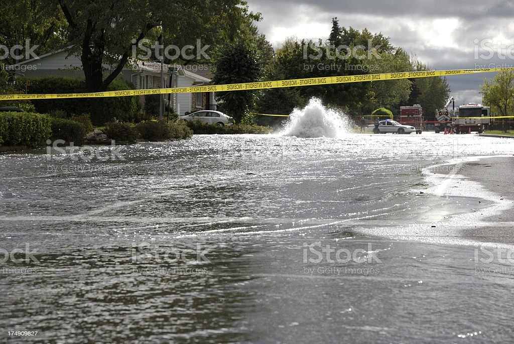 Major street flood. stock photo