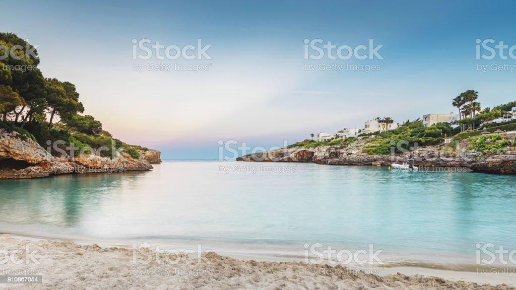 Majorca Beach Sunset stock photo