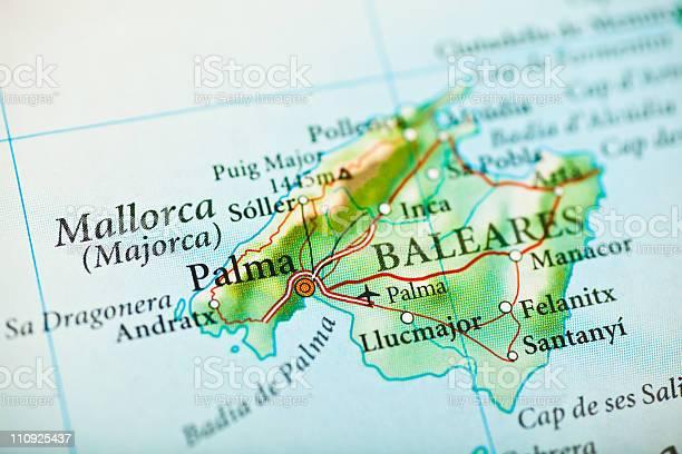 Cartina Spagna Geografica.Mappa Di Maiorca Spagna Fotografie Stock E Altre Immagini Di Carta Geografica Istock