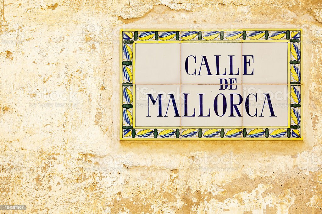 Majorca Street royalty-free stock photo