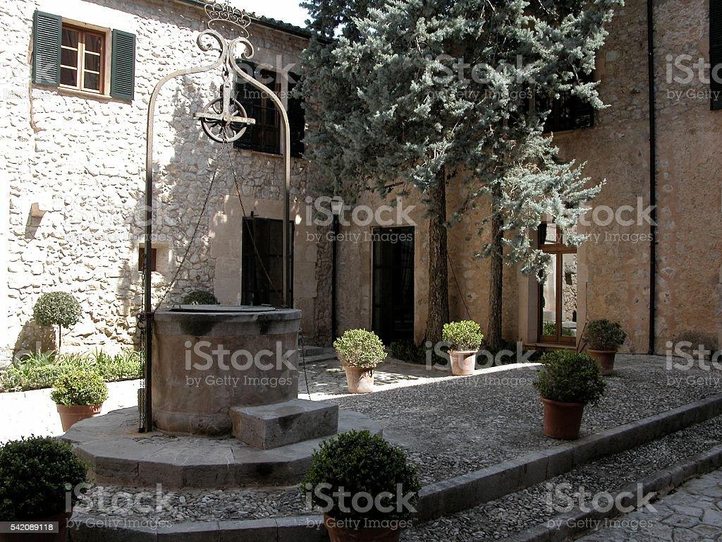 Majorcan Courtyard stock photo