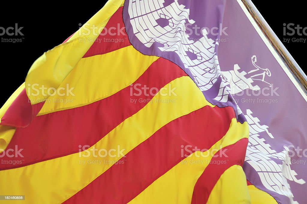 Majorcan flag royalty-free stock photo